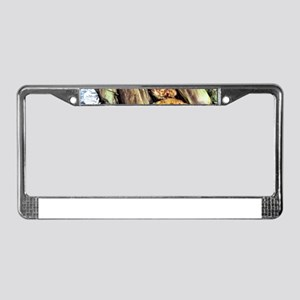 Simple Outdoor Grilling License Plate Frame