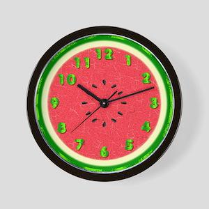 Watermelon Summer Fruit Slice Foodie Wall Clock
