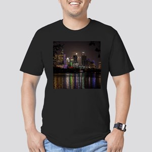Austin Texas Skyline Full Moon T-Shirt