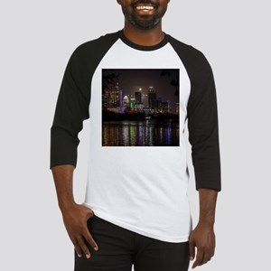 Austin Texas Skyline Full Moon Baseball Jersey
