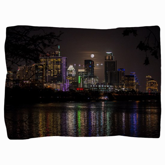 Austin Texas Skyline Full Moon Pillow Sham