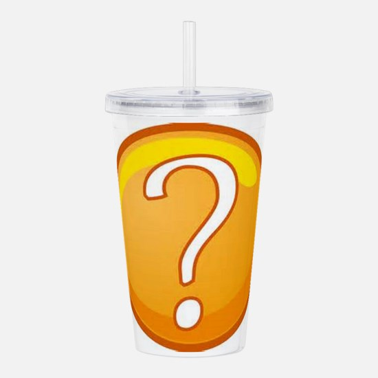 Question Mark Acrylic Double-wall Tumbler
