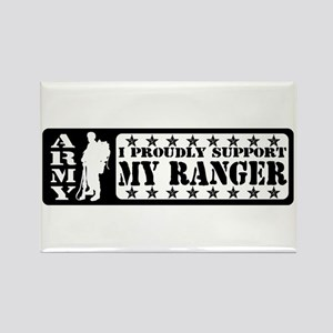 Proudly Support Rngr - ARMY Rectangle Magnet