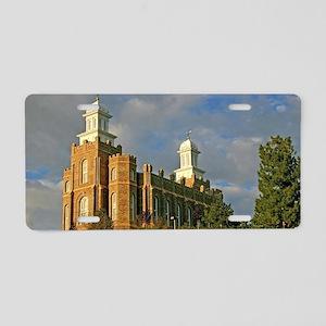 Logan temple 3 Aluminum License Plate