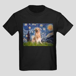 Starry Night / Golden Kids Dark T-Shirt