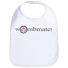 Wombmates--Triplets (pink) Bib