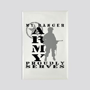 Ranger Proudly Serves - ARMY Rectangle Magnet