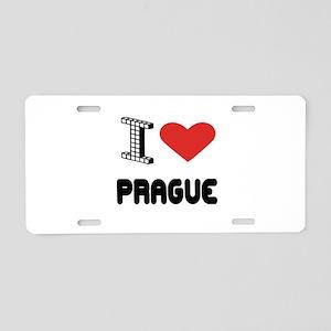 I Love Prague City Aluminum License Plate