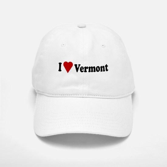 I Love Vermont Baseball Baseball Cap