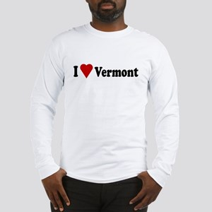 I Love Vermont Long Sleeve T-Shirt