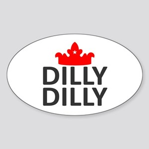 Crown Dilly Dilly Sticker (Oval)