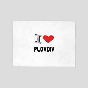 I Love Plovdiv City 5'x7'Area Rug