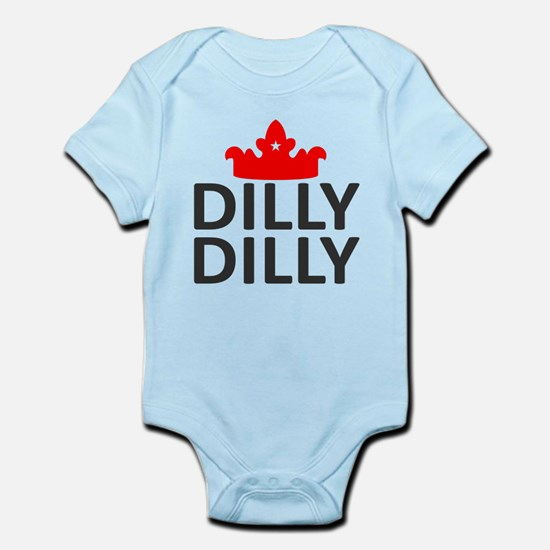 Crown Dilly Dilly Baby Light Bodysuit