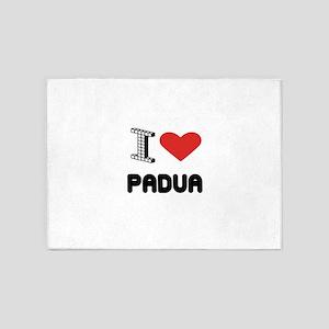 I Love Padua City 5'x7'Area Rug