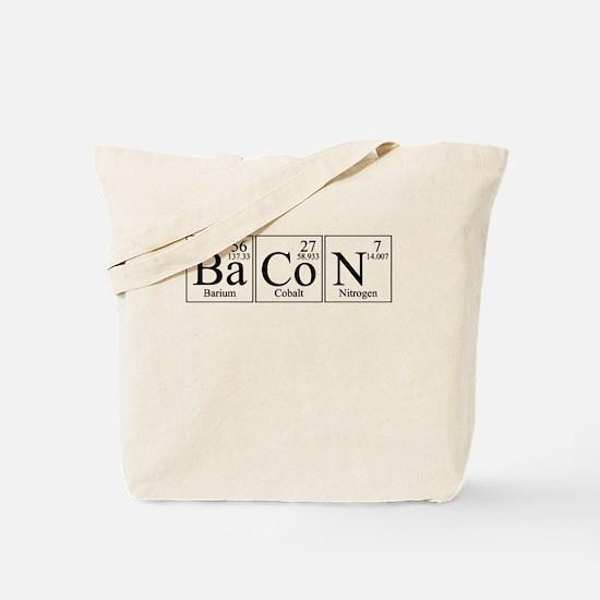Barium Cobalt Nitrogen Bacon Tote Bag