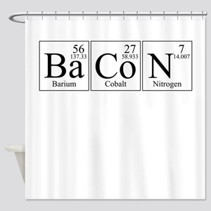 Barium Cobalt Nitrogen Bacon Shower Curtain