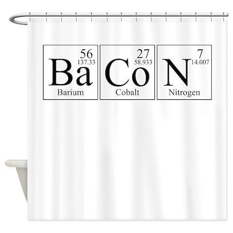 Barium Cobalt Nitrogen Bacon Shower Curtain