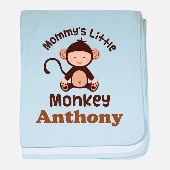 Mommys Little Monkey childs baby blanket