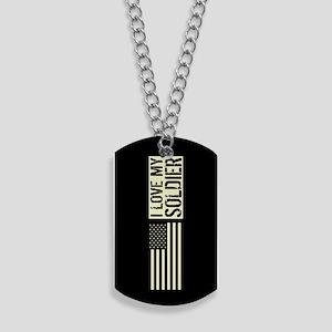 U.S. Army: I Love My Soldier (Black Flag) Dog Tags