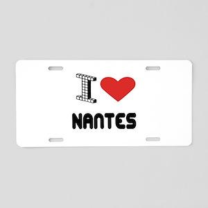 I Love Nantes City Aluminum License Plate
