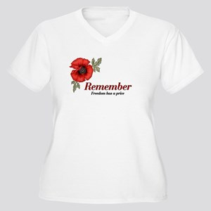 Remember Poppy Women's Plus Size V-Neck T-Shirt