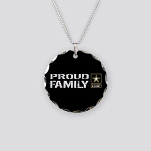 U.S. Army: Proud Family (Bla Necklace Circle Charm