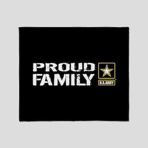U.S. Army: Proud Family (Black) Throw Blanket