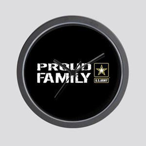U.S. Army: Proud Family (Black) Wall Clock