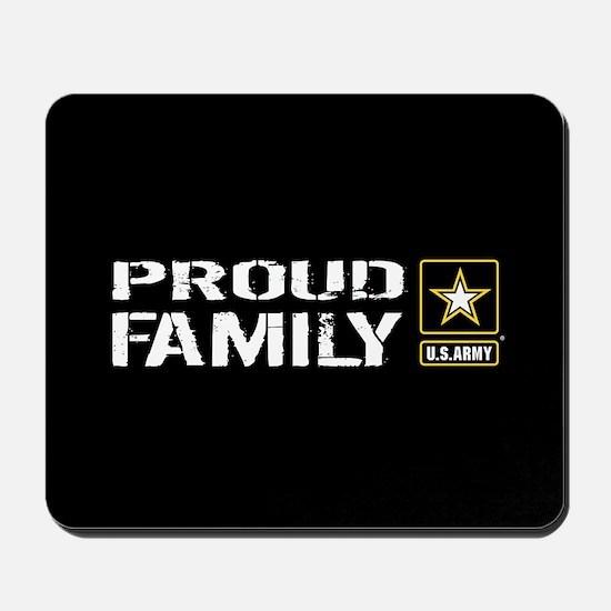 U.S. Army: Proud Family (Black) Mousepad