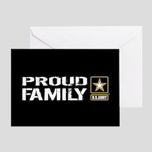 U.S. Army: Proud Family (Black) Greeting Card