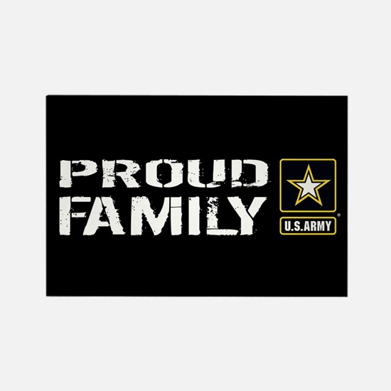 U.S. Army: Proud Family (Black) Rectangle Magnet