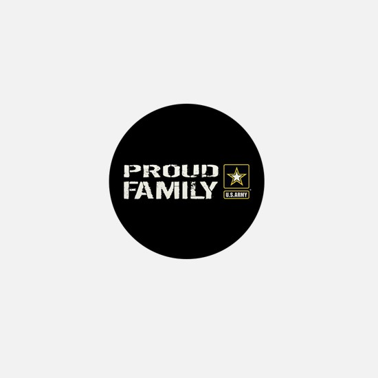 U.S. Army: Proud Family (Black) Mini Button
