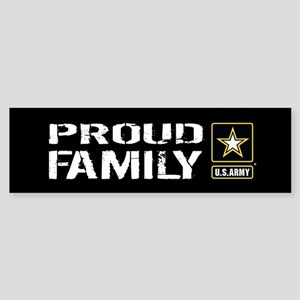 U.S. Army: Proud Family (Black) Sticker (Bumper)