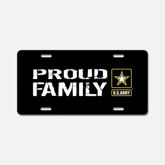 U.S. Army: Proud Family (Bl Aluminum License Plate