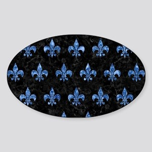 ROYAL1 BLACK MARBLE & BLUE MARBLE ( Sticker (Oval)