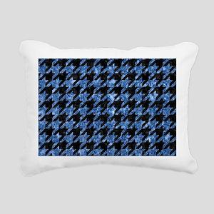 HOUNDSTOOTH1 BLACK MARBL Rectangular Canvas Pillow