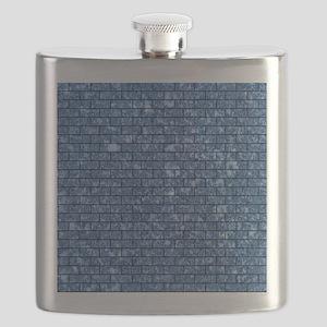 BRICK1 BLACK MARBLE & BLACK MARBLE (R) Flask
