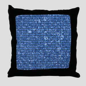 BRICK1 BLACK MARBLE & BLACK MARBLE (R Throw Pillow