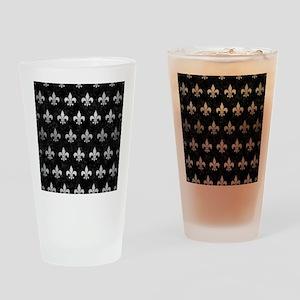 ROYAL1 BLACK MARBLE & SILVER BRUSHE Drinking Glass
