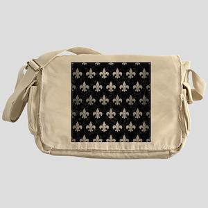 ROYAL1 BLACK MARBLE & SILVER BRUSHED Messenger Bag