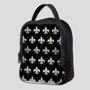 ROYAL1 BLACK MARBLE & SILVER BR Neoprene Lunch Bag
