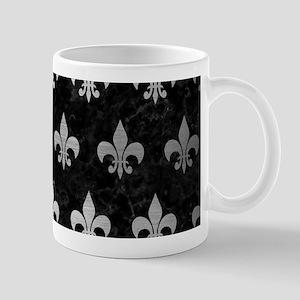 ROYAL1 BLACK MARBLE & SILVER BRU 11 oz Ceramic Mug