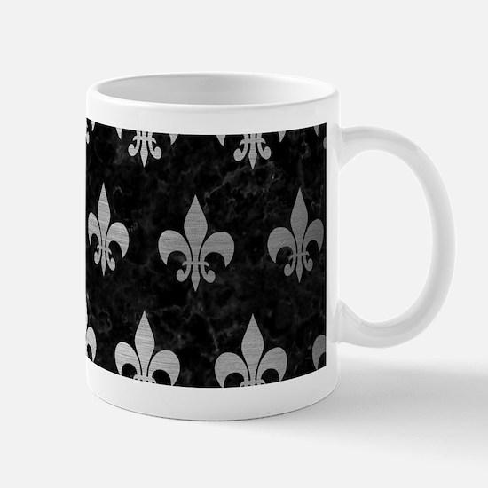 ROYAL1 BLACK MARBLE & SILVER BRU Mug
