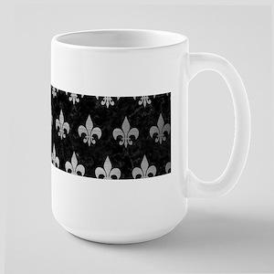 ROYAL1 BLACK MARBLE & SIL 15 oz Ceramic Large Mug
