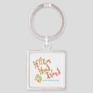 Hilton Head Island - Square Keychain