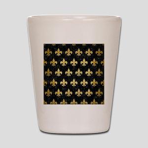 ROYAL1 BLACK MARBLE & GOLD BRUSHED META Shot Glass