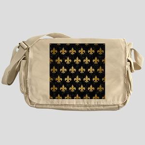 ROYAL1 BLACK MARBLE & GOLD BRUSHED M Messenger Bag