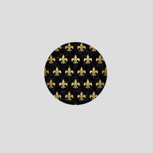 ROYAL1 BLACK MARBLE & GOLD BRUSHED MET Mini Button