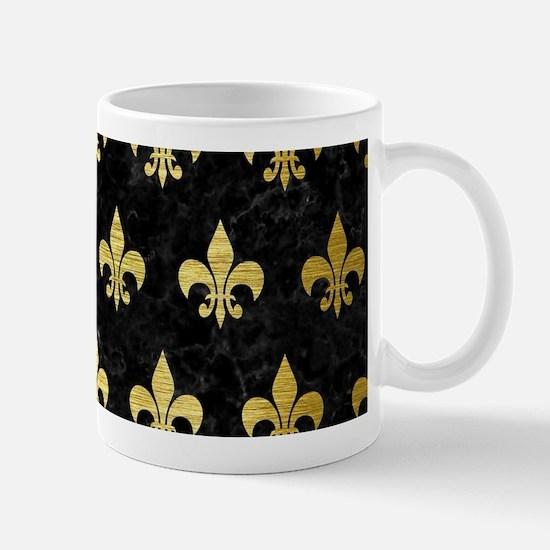 ROYAL1 BLACK MARBLE & GOLD BRUSH Mug