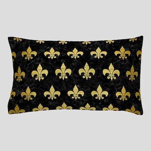 ROYAL1 BLACK MARBLE & GOLD BRUSHED MET Pillow Case